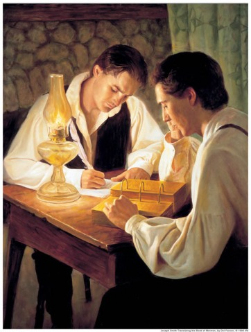 Joseph Smith translates the gold plates
