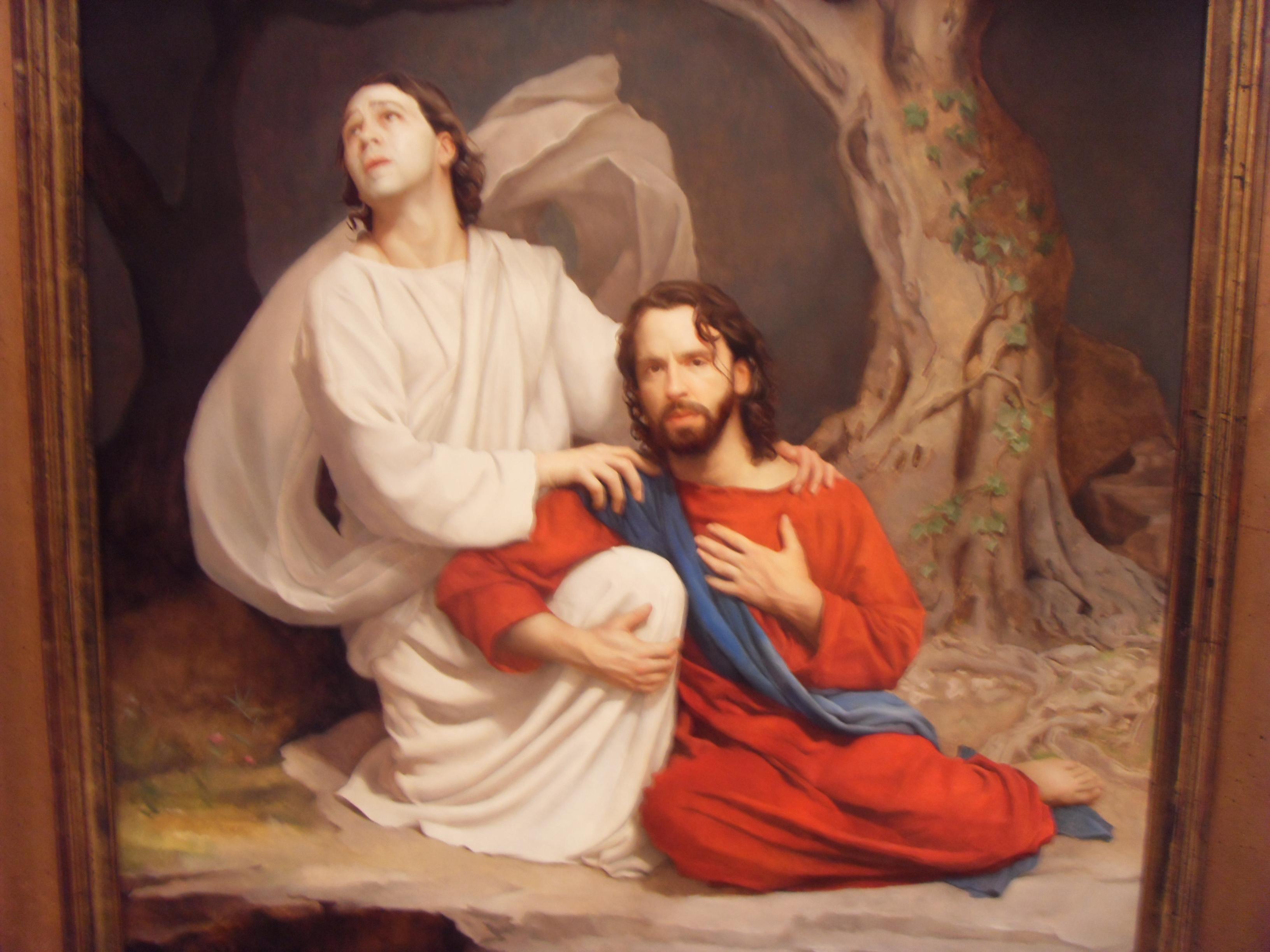Jesus Praying Garden Jesus Praying In Gethsemane Lds