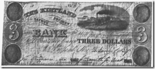 Bank note issued by the Kirtland Safety Society in early 1837, after its reorganization.