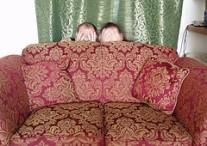 Hide sofa